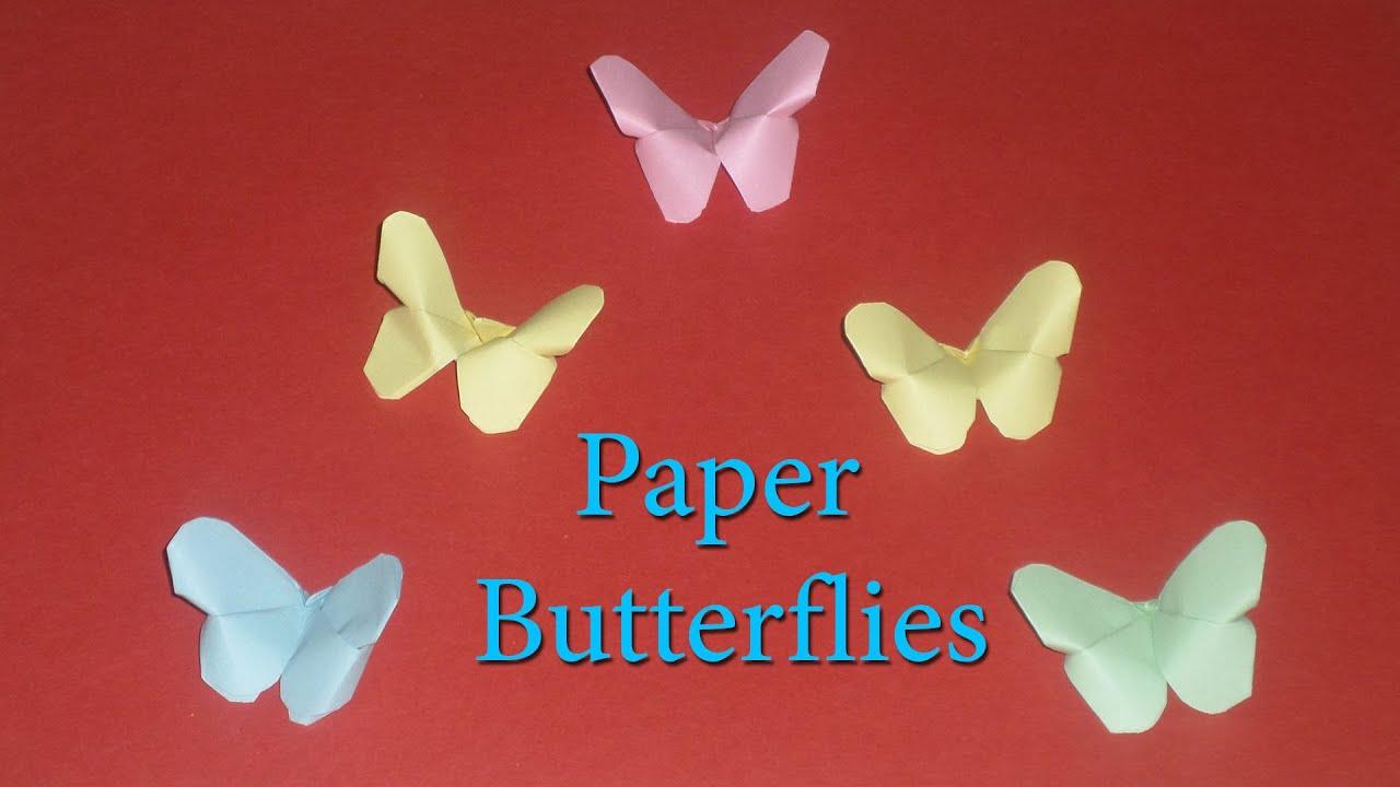 DIY Crafts Paper BUTTERFLIES Very EASY