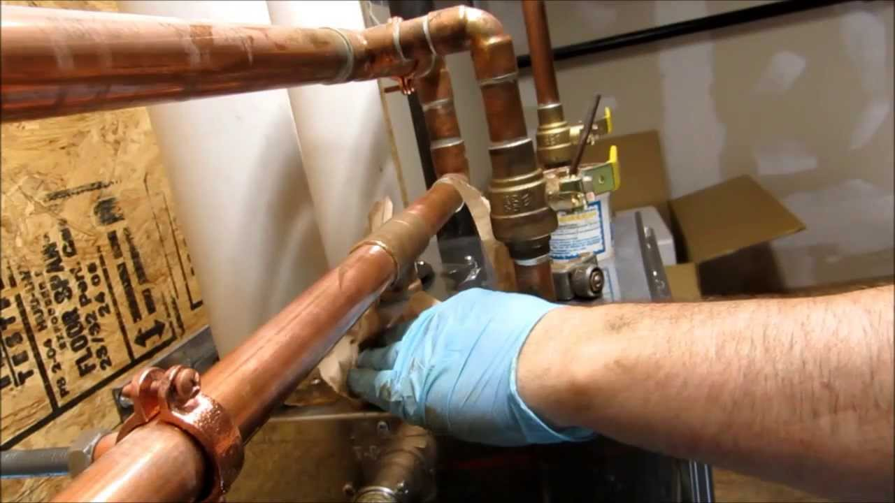 one inch pipe leak fixed hole in pipe plumbing tips