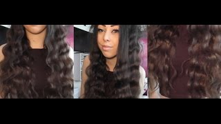 How To Curl Your Hair Using A Three Barrel Curling Iron | Phoebe Little