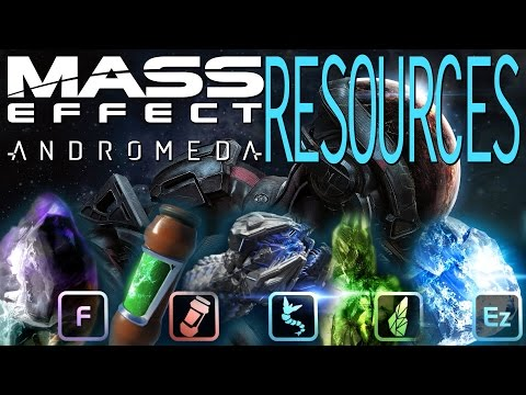 CRAFTING MATERIALS, MINERALS & RESOURCES IN MASS EFFECT ANDROMEDA