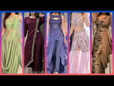 Popular Indo Western Outfits For Girls   Demanding Different Styles Of Party Lehenga /Gown/Plazzo