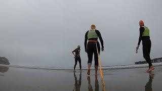 Overcast Open Water Ocean Swim