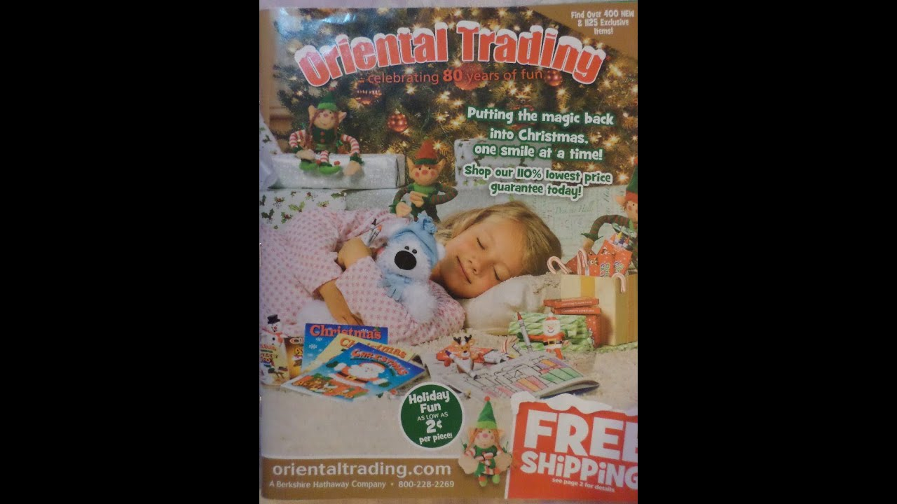 Oriental Trading Christmas 2013 Catalog Review  YouTube