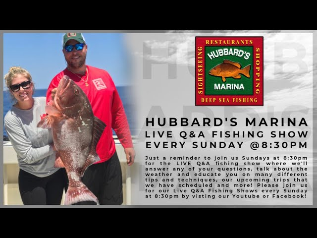 12.13.20 Live Q&A Fishing Show | Sundays 8:30PM weekly! | www.HubbardsMarina.com