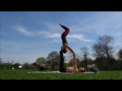 shoulderstand on feet star entry and exit  youtube