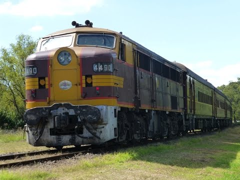 Australia: Historic Alco Diesel Locomotive #4490 at Thirlmere
