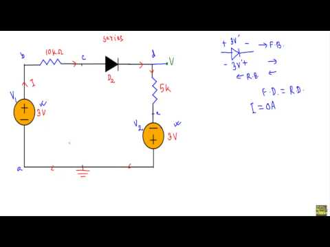 Diode DC circuit : Example 3,4