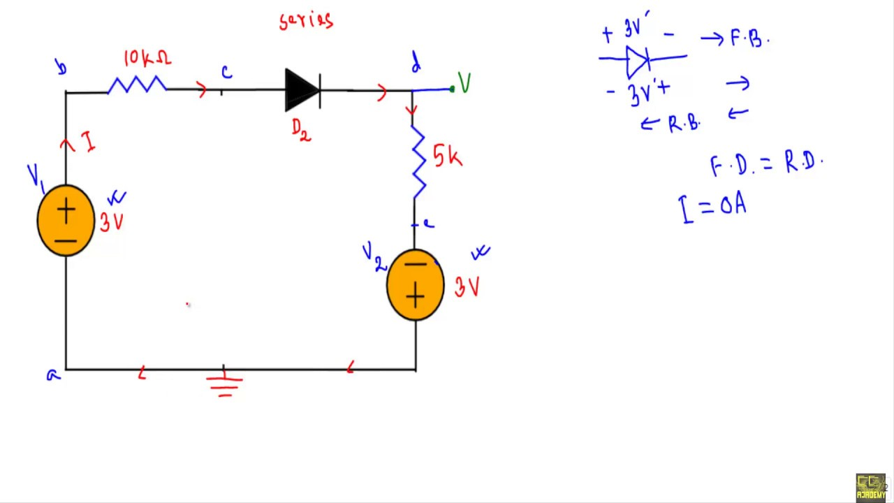Dc Diode Circuit Not Lossing Wiring Diagram Symbols Example 3 4 Youtube Rh Com Small Analysis