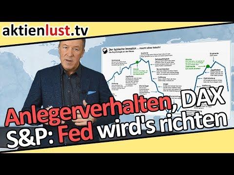Anlegerverhalten, DAX, S&P 500: Die Fed muss und wird es richten | aktienlust | Jürgen Schmitt