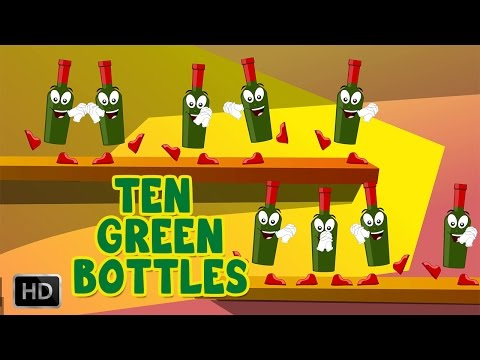 Ten Green Bottles Hanging On The Wall Song And Lyrics - Nursery Rhymes For Children