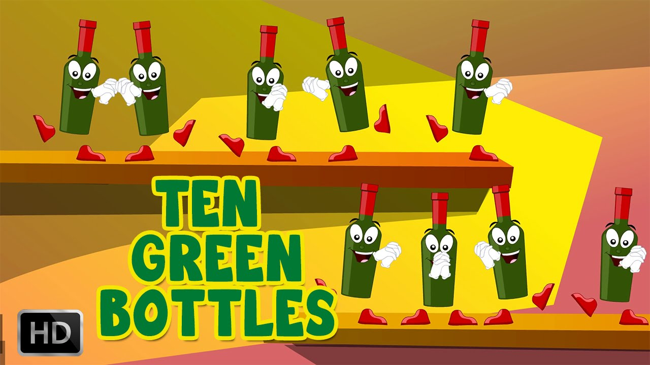 Ten Green Bottles Hanging On The Wall Song And Lyrics Nursery
