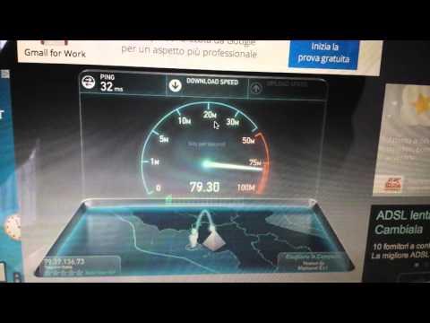 Il mio Speed Test Telecom Fibra 100 mega