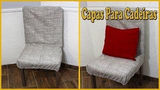 Capas para cadeiras feito com cola pano, muito fácil e rápido