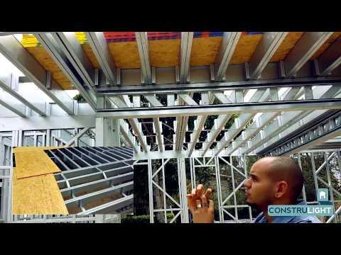 Construlight: Térreo e Laje Casa Steel Frame 420m²