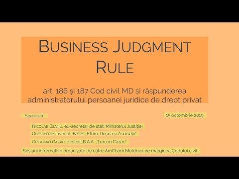 Buna judecată în afaceri a administratorului - Business Judgment Rule