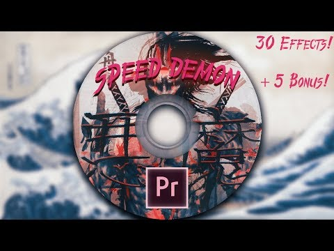 HUGE New Adobe Premiere TRANSITION PACK ! (SPEED DEMON PRESET PACK)