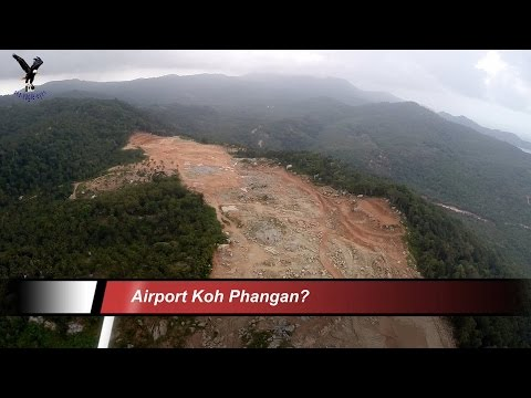 Airport Koh Phangan / overflown with my drone / 10.1.2015