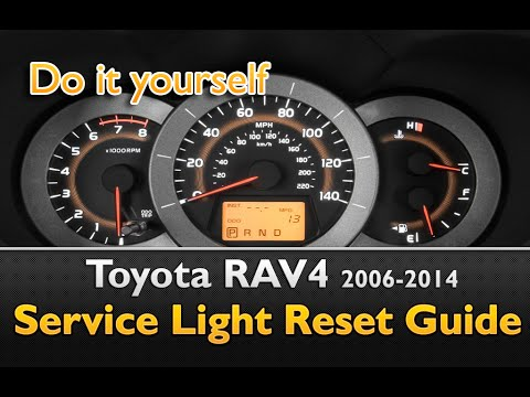 Toyota Rav 4 Service Light Youtube