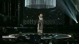 Celine Dion rehearsing