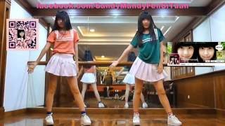 Red Velvet Russian Roulette by Sandyu0026Mandy dance cover 畫面加強版