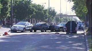 Usurpación, tiroteo y persecución terminan con dos heridos de bala y seis gendarmes golpeados