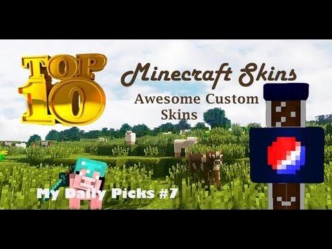 Minecraft Skins Top 10 Awesome Custom Minecraft Skins Videos