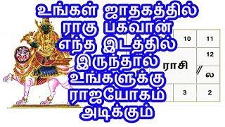 உங்கள் ஜாதகத்தில் ராகு பகவான் எந்த இடத்தில் இருந்தால் உங்களுக்கு ராஜயோகம் அடிக்கும்