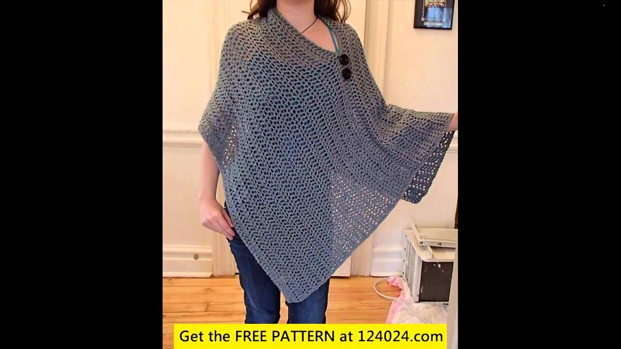 crochet poncho for beginners - YouTube