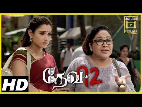devi-2-tamil-movie-scenes-|tamannaah-at-market-place-|-kovai-sarala's-entry-|-tamannaah-suspects