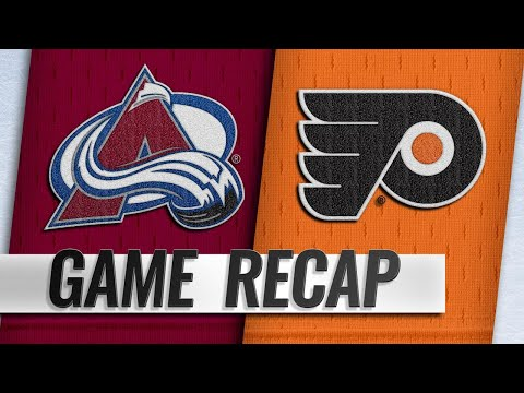 Rantanen's two goals lead Avalanche past Flyers, 4-1