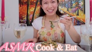 ASMR Dinner with Charlotte | Cooking...Wine...Candles...