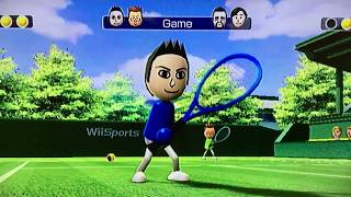 Wii Sports-Tennis gameplay