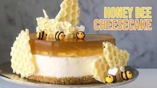 No-Bake Honey Bee Cheesecake 노…