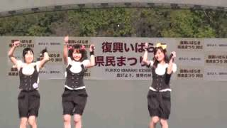 下妻市のご当地アイドル「しもんchu」によるオリジナルソングの披露.
