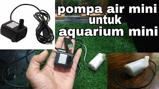 Unboxing Pompa Air Mini Untuk Aquarium Mini Youtube