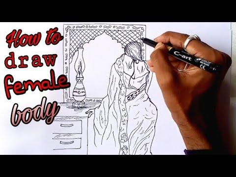 How to draw female body, Art tutorial thumbnail