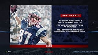 NEW Madden 17 Update 1.03 Patch Notes