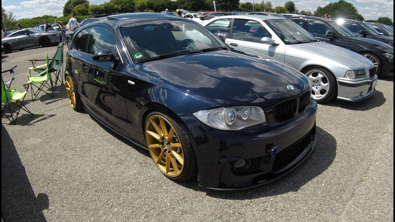 bmw 1 series e81 m front tuning yidi performace wheels dark blue colour walkaround youtube. Black Bedroom Furniture Sets. Home Design Ideas