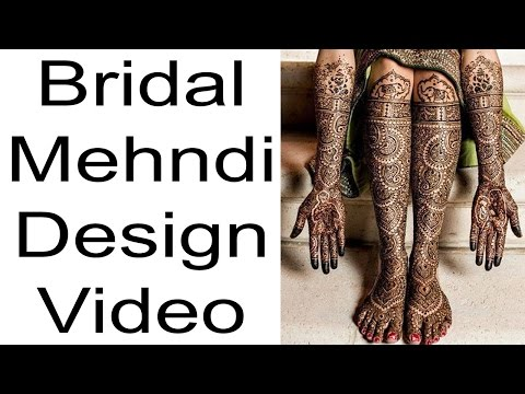 Bridal Mehndi | Latest Mehndi Design 2017 | Full Bridal Mehndi