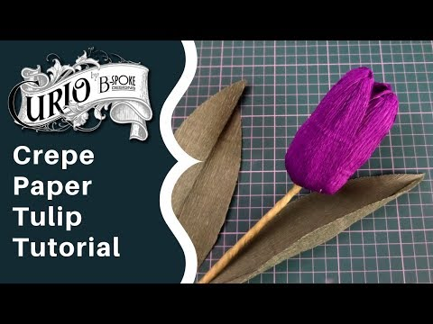 Crepe Paper Tulips Tutorial