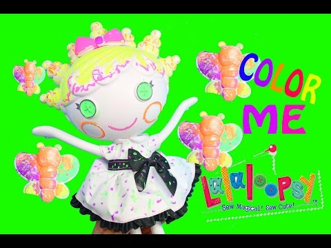 Lalaloopsy Color Me Squiggles Nick Jr. Paint Draw