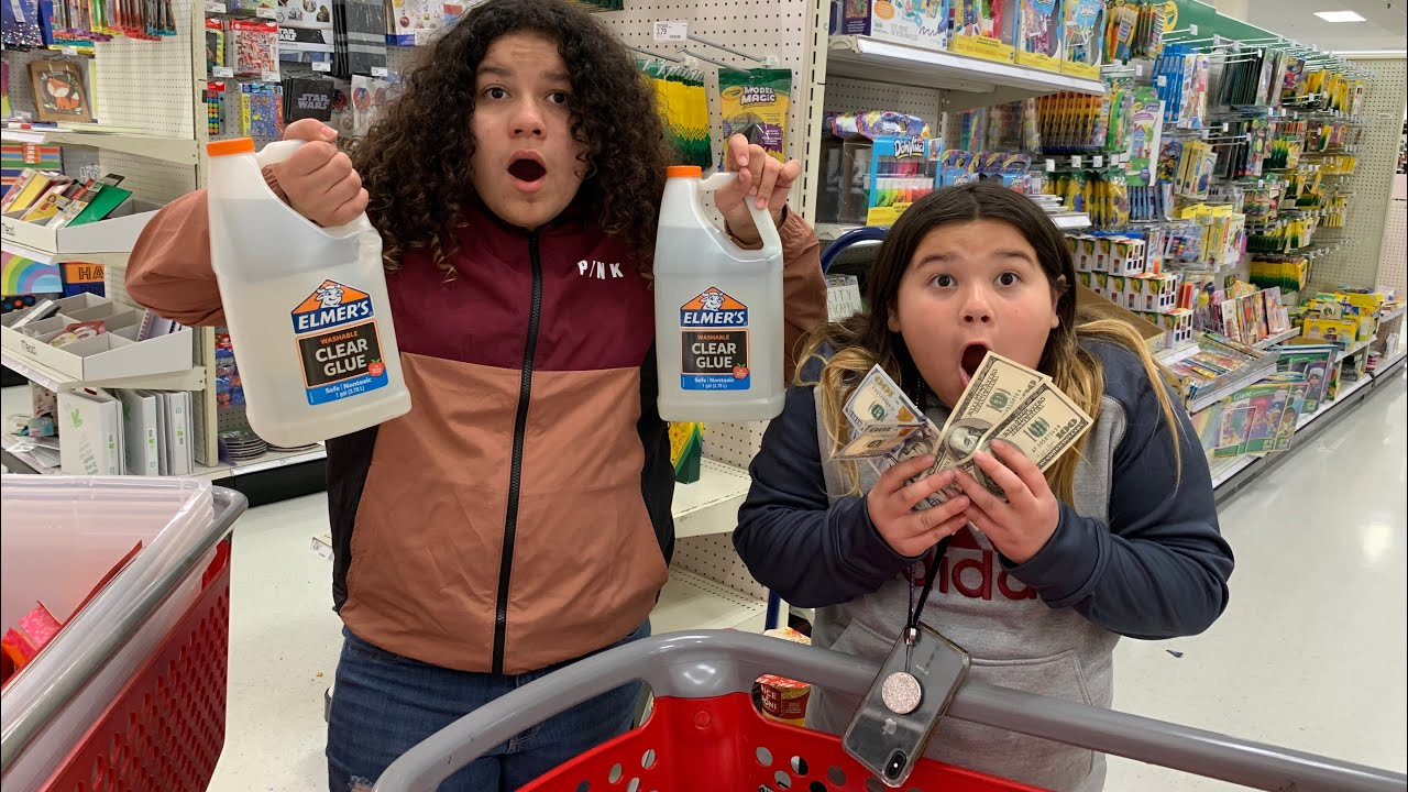 Slime Master Mary And Izzy: $500 Slime Supplies Shopping Challenge At Target