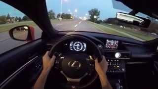 2015 lexus rc350 f sport pov sunset drive