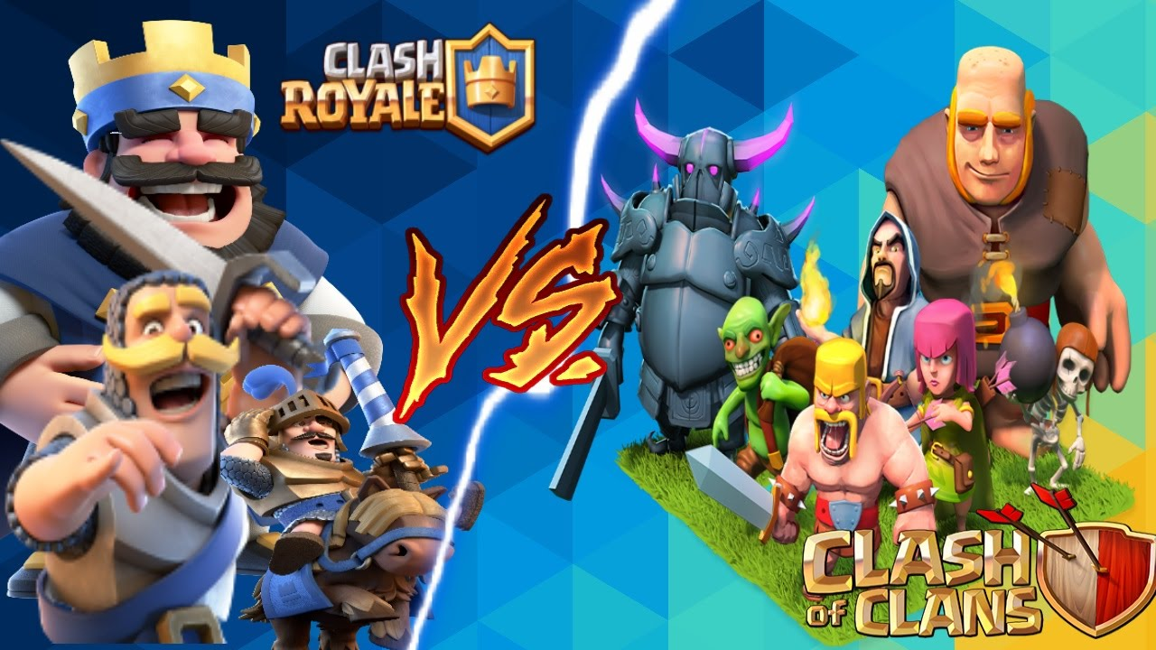 Clash Of Clans Troops Vs Clash Royale Troops In Cash Royale