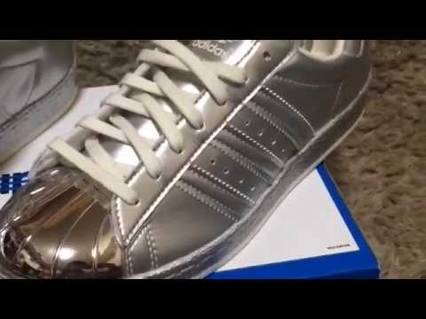 adidas superstar metal silver