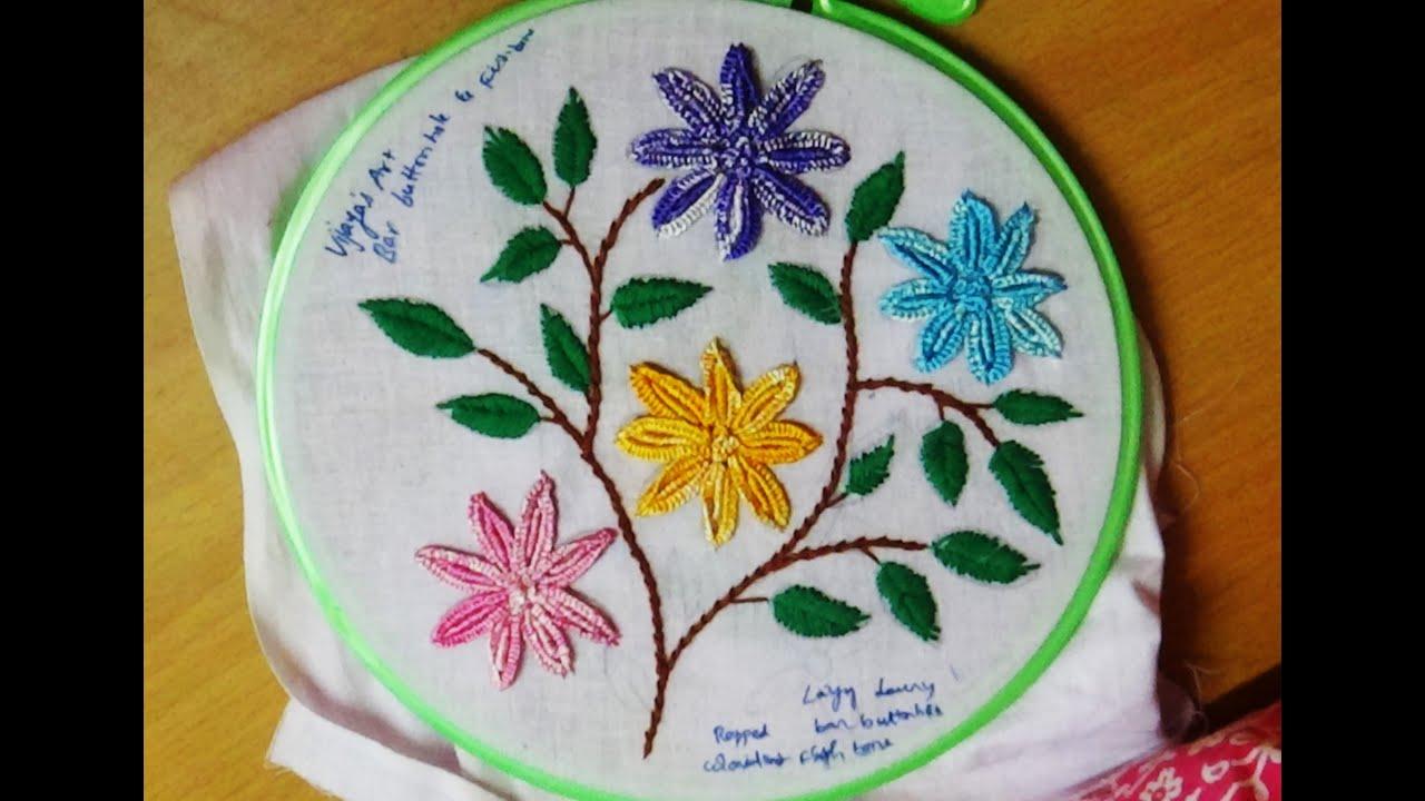 Fishbone Stitch Embroidery Designs