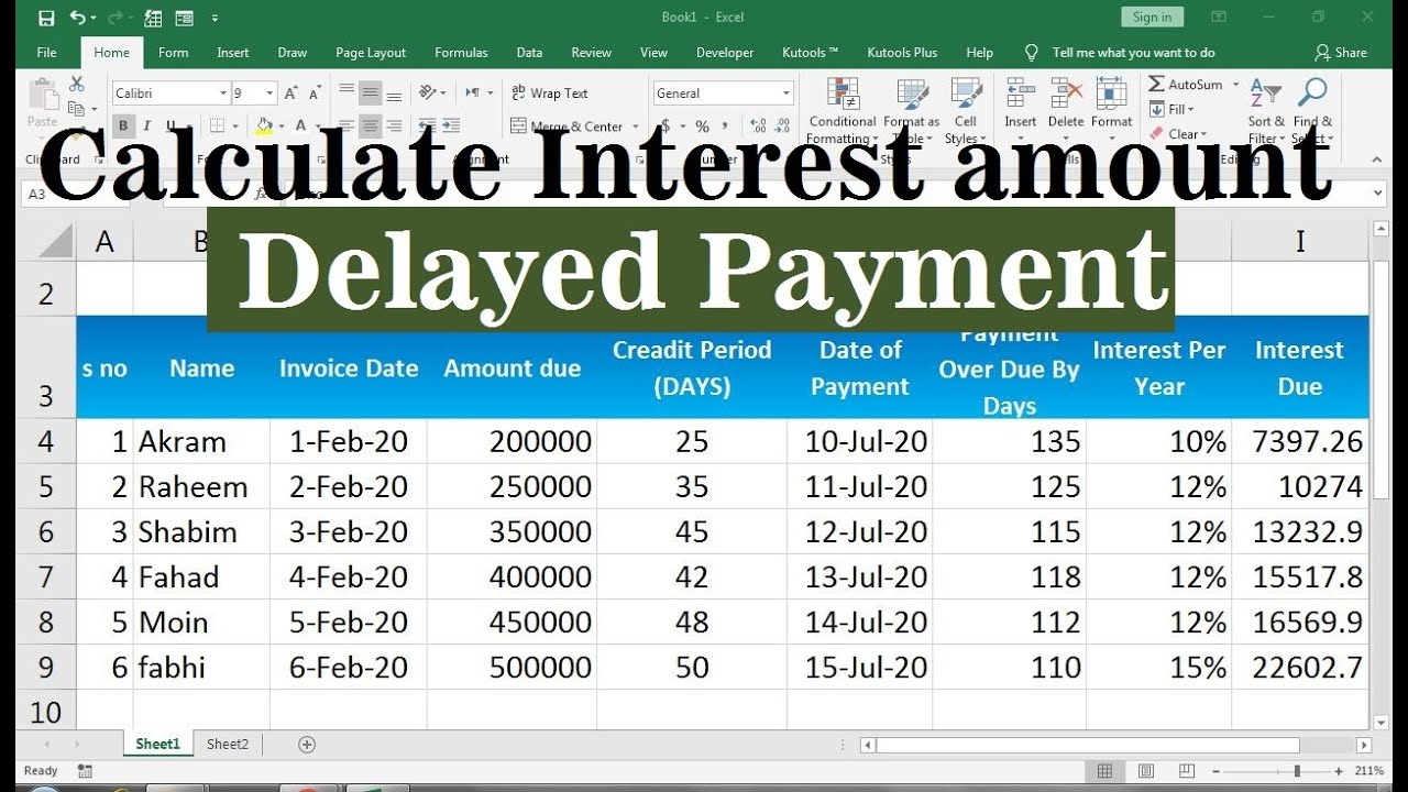 late payment interest calculator excel Inside Credit Card Interest Calculator Excel Template
