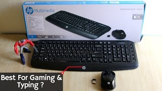 Unboxing & Review Of HP Wireless MULTIMEDIA Keyboard & Mouse | Best Budget Gaming Wireless Keyboard.