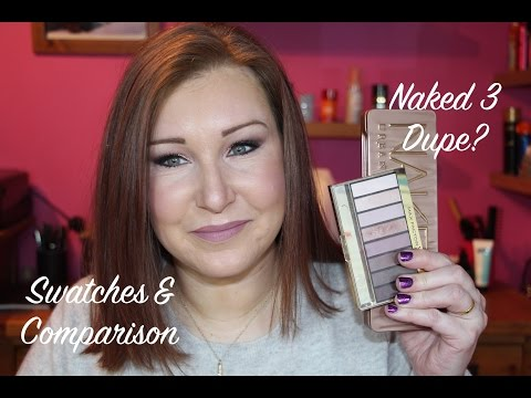 Urban Decay Naked 3 VS Max Factor 03 Rose Nudes - Swatches & Comparison