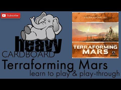 Heavy Cardboard Teaches Terraforming Mars & Full Play-through!